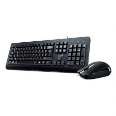 Combo Genius კლავიატურა+მაუსი KM-160 RU, USB Black GO-170001