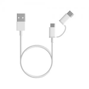 კაბელი Type-C+Micro / Xiaomi 2-in-1 კაბელი, Micro USB to Type C 1m