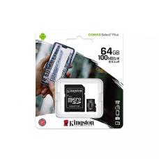 მეხსიერების ბარათი Kingston 64 GB With SD ადაპტერი SDCS2/64