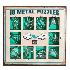 10 Metal Puzzles - Green Set თავსატეხი